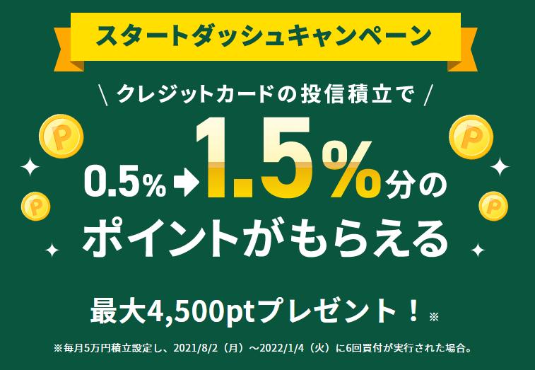 【ポイント1.5%】SBI証券がクレカ積立に対応(投資信託)